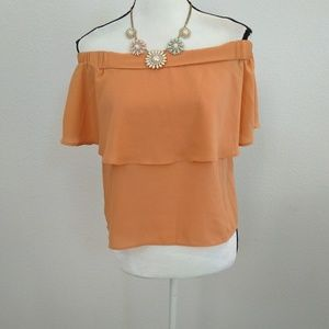 Forever 21 off shoulder blouse size small